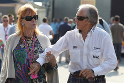 Jackie Stewart, with his wife Helen Stewart
