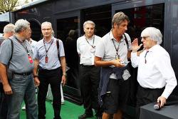 Bernie Ecclestone, CEO Formula One Group, with Jean-Francois Galeron