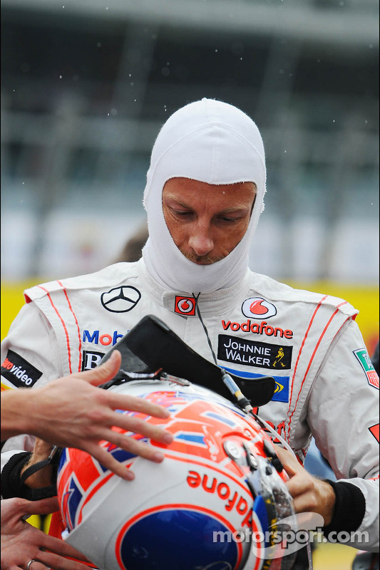 Jenson Button, McLaren no grid