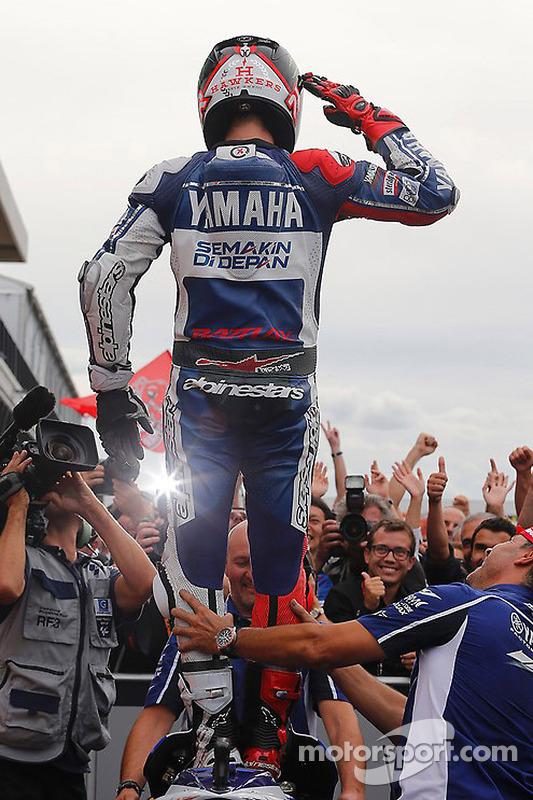 O vencedor Jorge Lorenzo, Yamahaa Fatory Racing