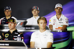 The FIA Press Conference, Williams; Nico Hulkenberg, Sauber; Adrian Sutil, Sahara Force India F1; Kimi Raikkonen, Lotus F1 Team; Nico Rosberg, Mercedes AMG F1.  19.09.2013. Formula 1 World Championship, Rd 13, Singapore Grand Prix, Singapore, Singapore, P