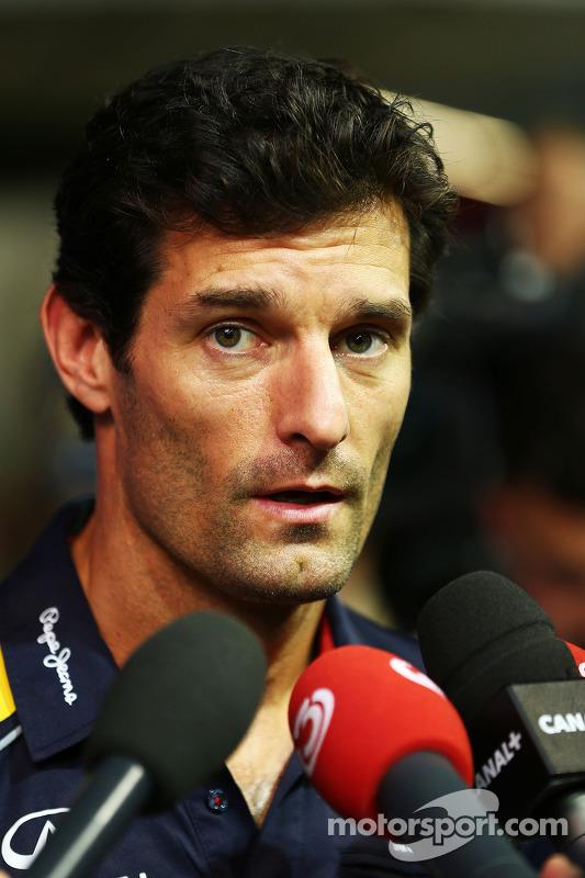 Mark Webber, Red Bull Racing com a imprensa