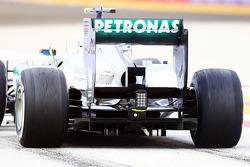 Lewis Hamilton, Mercedes AMG F1 W04 difusor trasero detalle