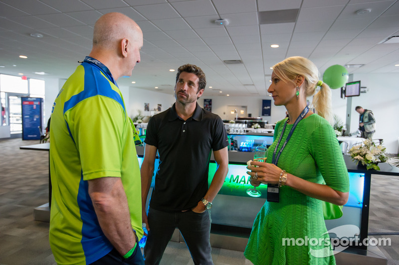 Amerikaanse coureurs bij het Le Mans-evenement: Tracy Krohn en Patrick Dempsey