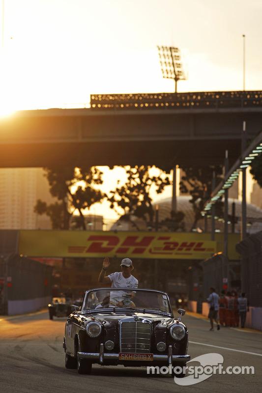 Nico Rosberg, Mercedes AMG F1 no desfile de pilotos