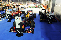 Top three cars in parc ferme