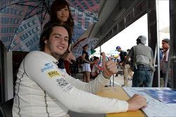 Handtekeningensessie, Fernando Monje, SEAT Leon WTCC, Campo Racing