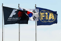 F1, Korean and FIA Flags