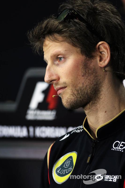 Romain Grosjean, Lotus F1 Team na coletiva da FIA