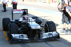 Pastor Maldonado, Williams FW35 running sensor equipment