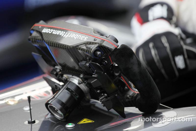Sauber C32 steering wheel