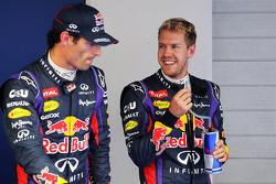 (L to R): Mark Webber, Red Bull Racing with team mate Sebastian Vettel, Red Bull Racing in parc ferme