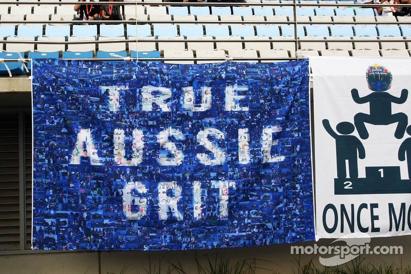 Banners voor Mark Webber, Red Bull Racing