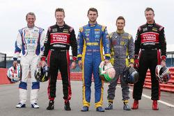 Title contenders Andrew Jordan, Jason Plato, Matt Neal, Gordon Shedden and Colin Turkington