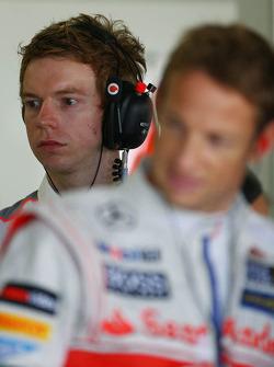 Oliver Turvey, McLaren Test Driver and Jenson Button, McLaren