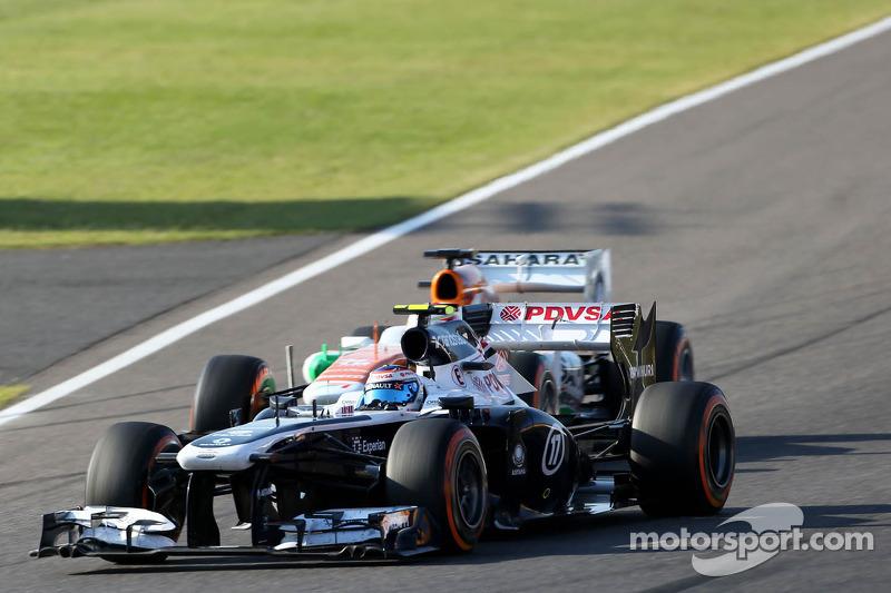 Valtteri Bottas, Williams F1 Team y Paul di Resta, Force India Formula One Team