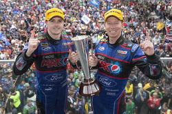 Race winners Mark Winterbottom and Steven Richards