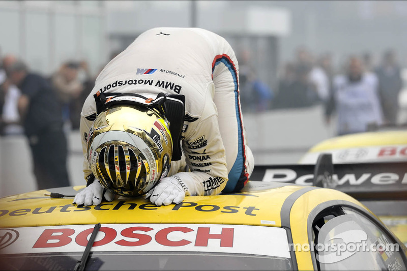 Timo Glock, BMW Team MTEK, overwhelmed by his victory