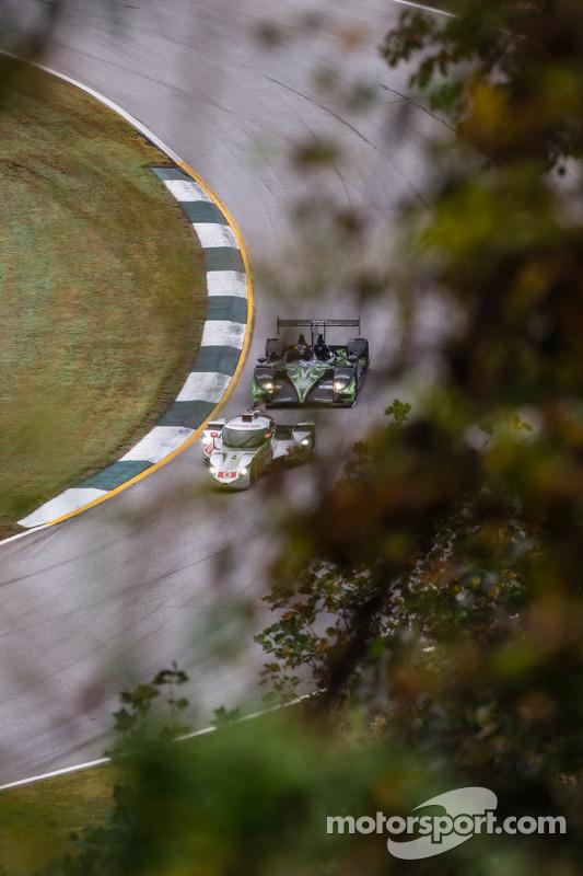 #0 DeltaWing Racing Cars DeltaWing DWC13 Elan: Andy Meyrick, Katherine Legge, #01 Extreme Speed Motorsports HPD ARX-03b HPD: Scott Sharp, Anthony Lazzaro, David Brabham