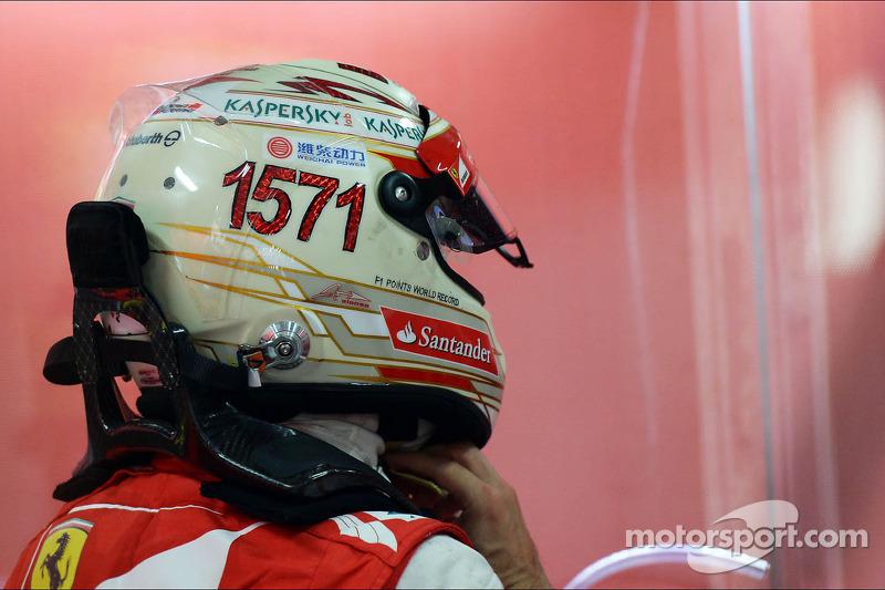 Casco de Fernando Alonso en 2013 (India)