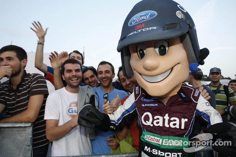 La mascota de M-Sport World Rally Team