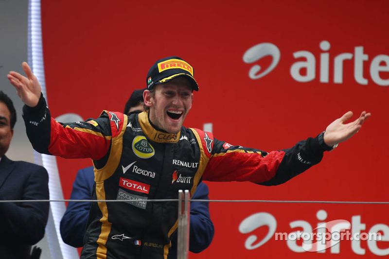 3e plaats Romain Grosjean, Lotus F1 Team