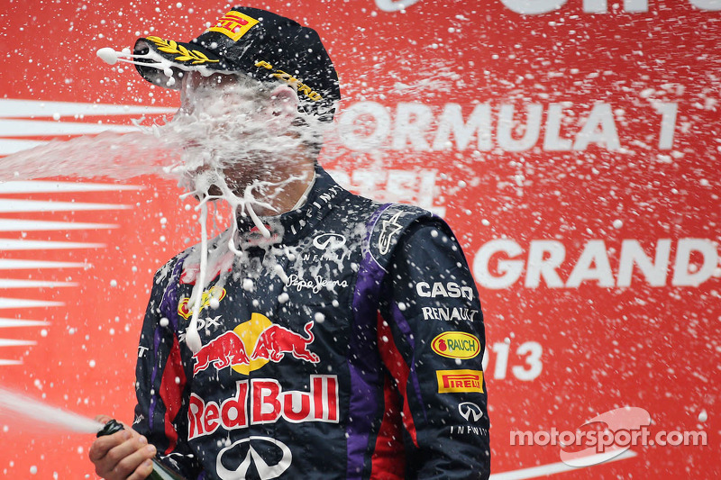 Race winner and 2013 world champion Sebastian Vettel