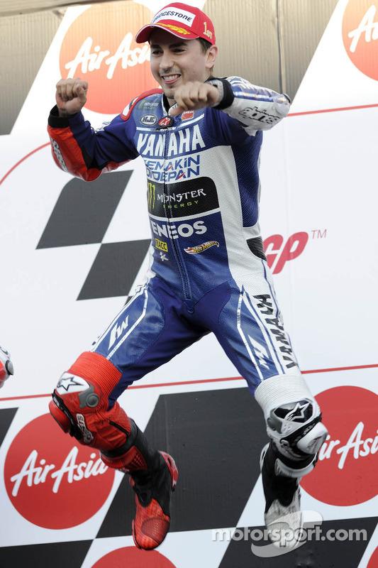 O vencedor Jorge Lorenzo