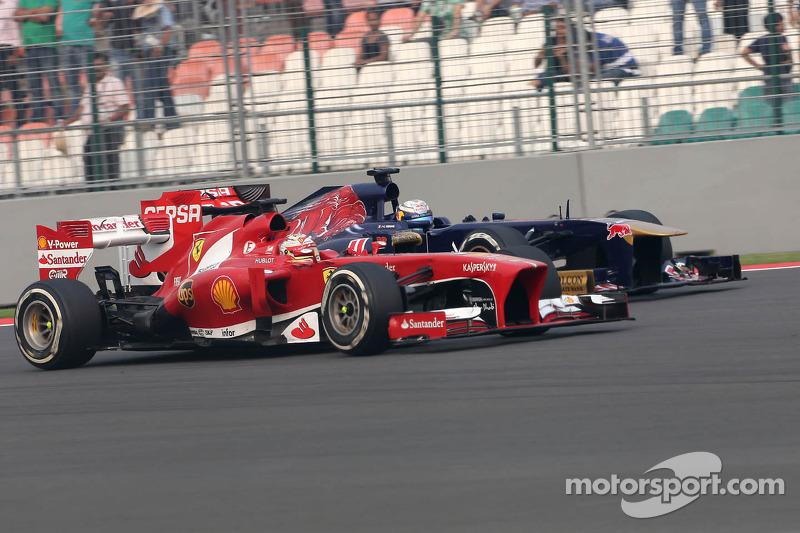 Fernando Alonso, Scuderia Ferrari and Jean-Eric Vergne, Scuderia Toro Rosso