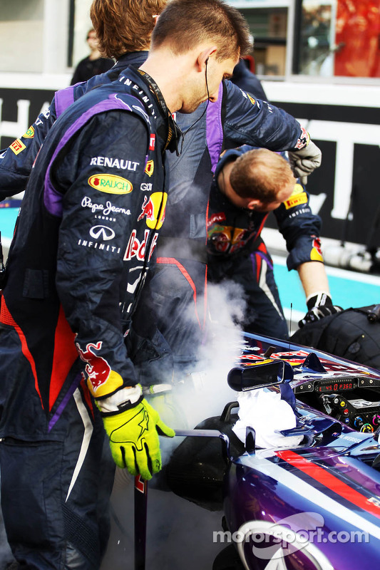 Red Bull Racing RB9 de Mark Webber, Red Bull Racing no grid