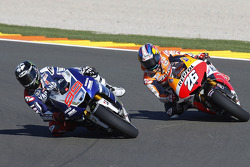 Jorge Lorenzo, Yamaha Factory Racing en Dani Pedrosa, Repsol Honda Team