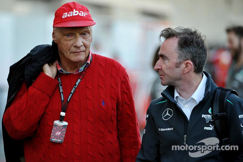 Niki Lauda and Paddy Lowe
