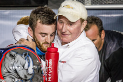 Championship victory lane: NASCAR Nationwide Series 2013 champion Austin Dillon celebrates with Richard Childress