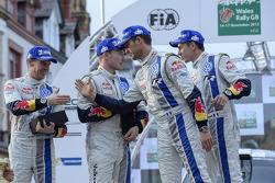 Winners Sébastien Ogier and Julien Ingrassia, second place Jari-Matti Latvala and Miikka Anttila
