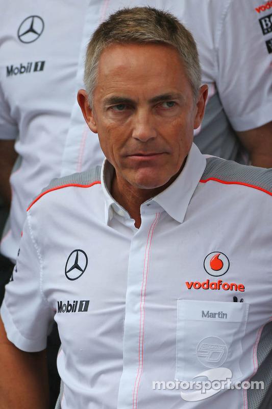 Martin Whitmarsh, CEO da McLaren em um foto da equipe