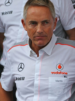 Martin Whitmarsh, McLaren Chief Executive Officer at a team photograph