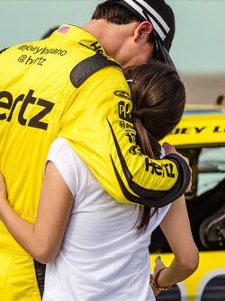 Joey Logano with his girlfriend
