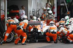 Parada en pits de Paul di Resta, Sahara Force India F1