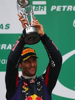 segundo colocado Mark Webber, Red Bull Racing