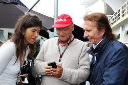Niki Lauda, Mercedes Presidente de Honra com Emerson Fittipaldi