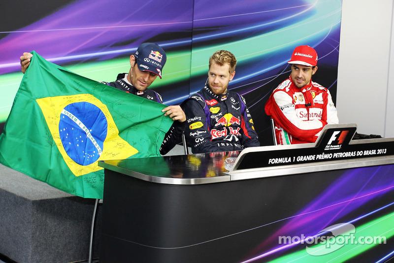 Mark Webber, Sebastian Vettel y Fernando Alonso