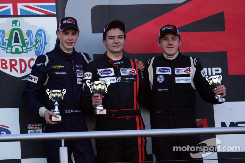 pódio from esquerda: Matthew Graham, Will Palmer e Jake Cook