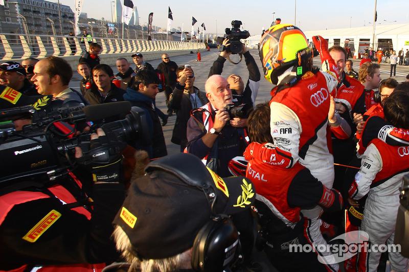 Race winners and championship winners Stéphane Ortelli, Laurens Vanthoor
