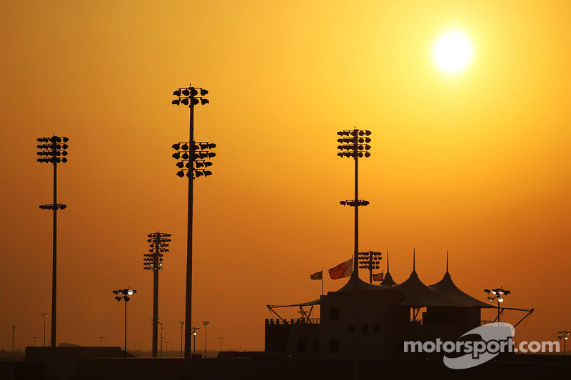 The sun sets over Bahrain