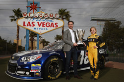 2013 champion Jimmie Johnson with Miss Sprint Cup Brooke Werner