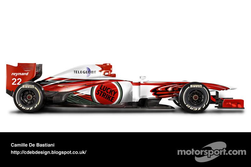 Formel-1-Auto im Retrodesign: BAR 1999