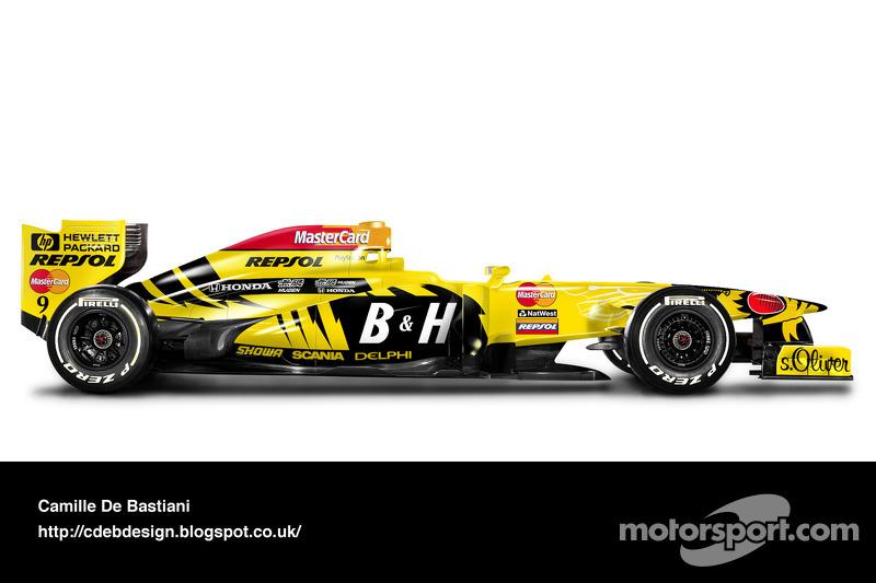 Formel-1-Auto im Retrodesign: Jordan 1998
