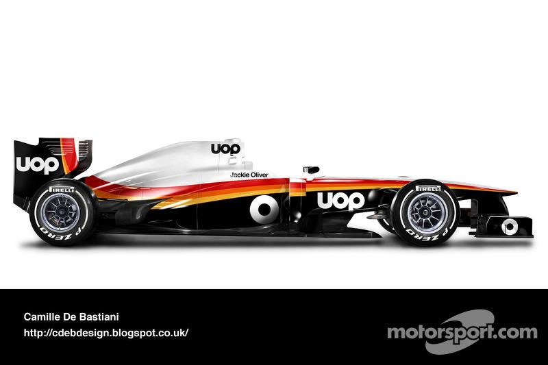 Formel-1-Auto im Retrodesign: Shadow 1975