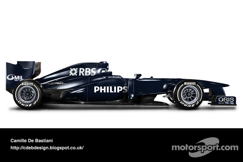 Formel-1-Auto im Retrodesign: Williams 2009 (vor Saisonbeginn)