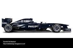 Retro F1 car - Williams 2009 (pre-season livery)